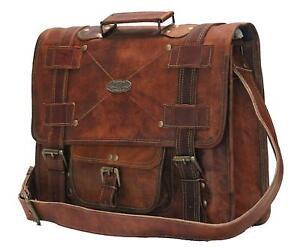 Männer Messenger Ledertasche Gym Laptop Echte Brown Vintage Reisegepäck Gvb nXOq0I5R