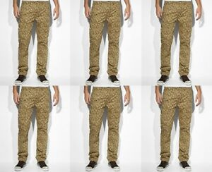 Levi-039-s-men-039-s-slim-straight-cargo-pants-jeans-camouflage-68-price-NWT-size-38-32