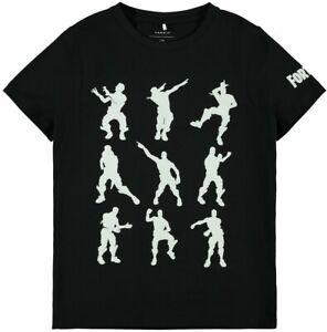 NAME-IT-Jungen-T-shirt-NKMAlex-Fortnite-schwarz-Groesse-122-128-bis-158-164