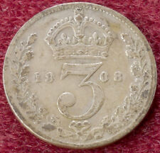 GB Threepence 1908 (C2801)