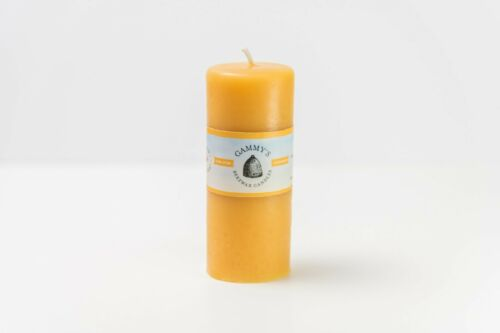 """2x5/"""" Smooth Beeswax Pillar 100/% Pure Beeswax Candles"""