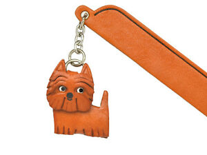 Westie Leather dog Charm Bookmarker *VANCA* Made in Japan #61765