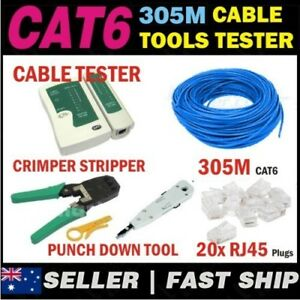 305m-Blue-Cat6-Phone-Network-LAN-Cable-Tool-Kit-for-Home-Office-Warehouse-CCTV