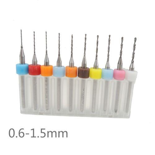 PCB Print Circuit Board Carbide Micro Drill Bits 0.6-1.5mm 10Pcs//Set Drill bit
