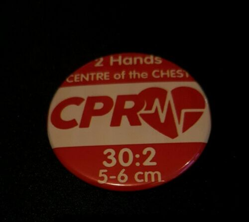 CPR 30:2 15:2 first aid SAVE LIFE little anne NPLQ FAW at work  Badges 59mm