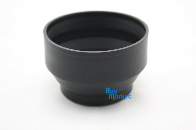 New 52mm Collapsible 3-in-1 Rubber Lens Hood for 52 mm camera lens