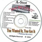 Just Beats (Instrumentals) * by A-Stot (CD, Jul-2004, ASP Records)