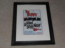 "Framed Beatles A Hard Days Night 1964 Mini Poster, UK Alternate Release 14""x17"""