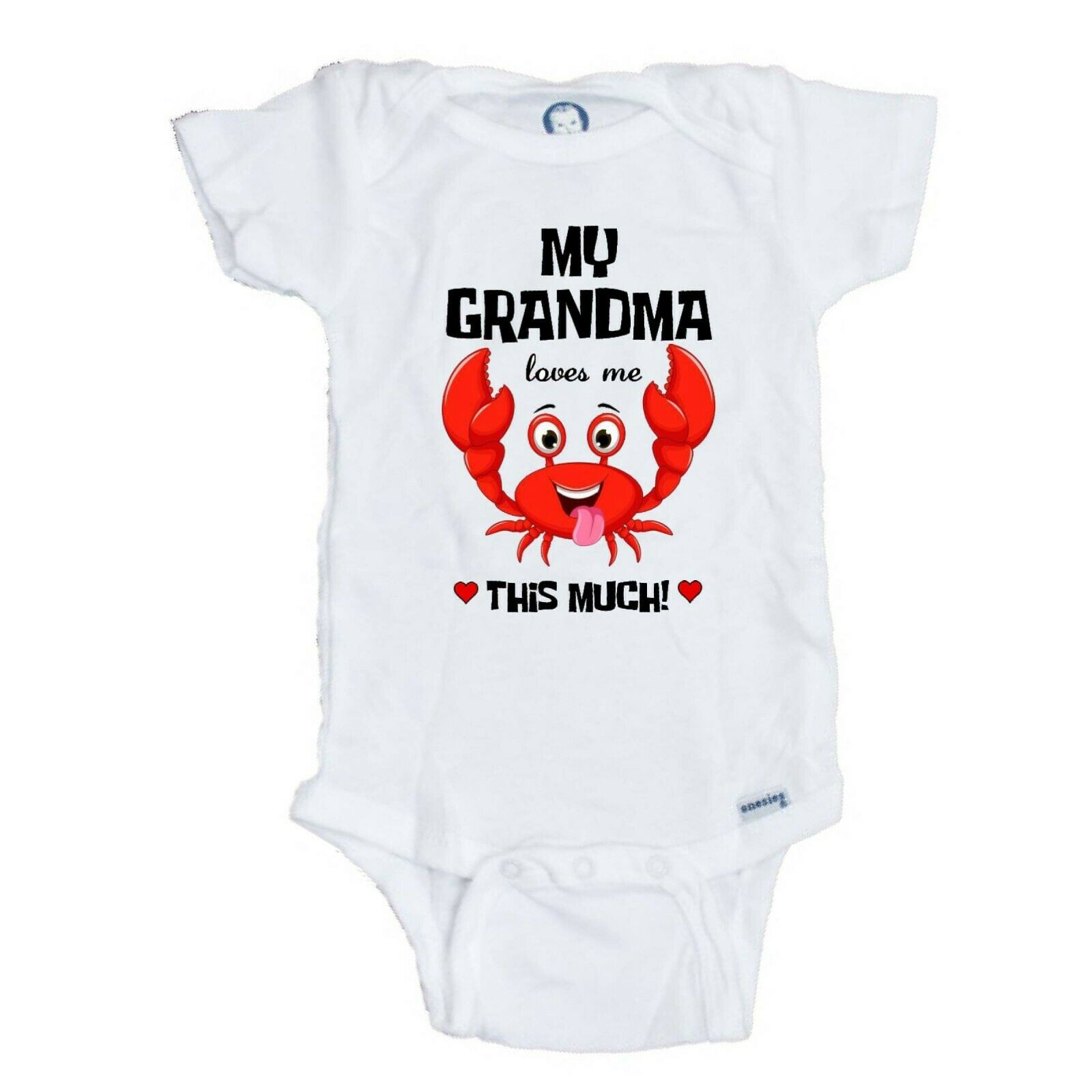 inktastic My Oma Loves Me Cute Crab Family Baby T-Shirt