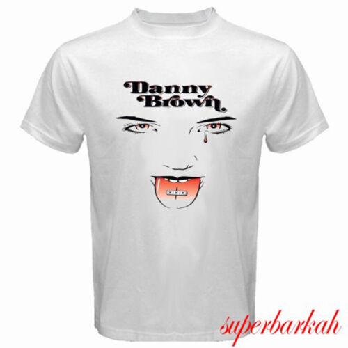 New Danny Brown Rapper XXX Album Logo Men/'s White T-Shirt Size S-3XL