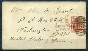 Grossbritannien-1819-Mi-41-Brief-100-Liverpool-Amerika-Washington