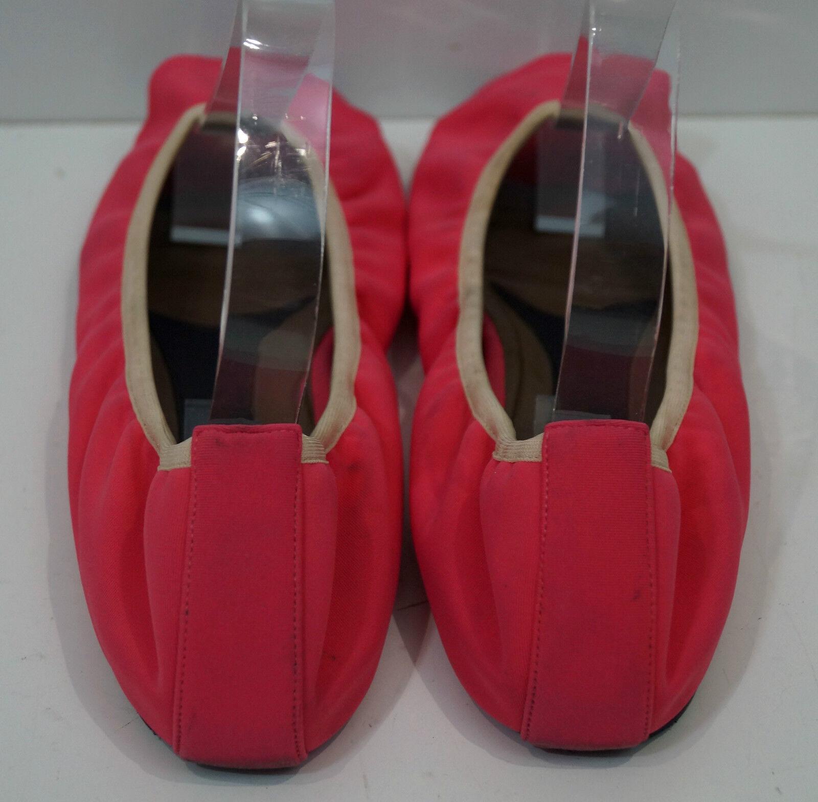 MARNI Hot Pink Fabric Peep On Toe Elasticated Opening Slip On Peep Ballerina Flat Schuhes 5ad3b6