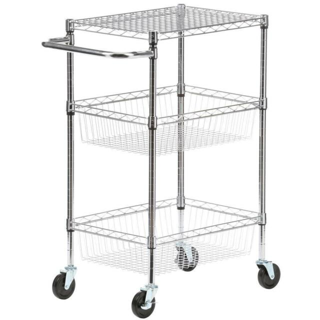 Mobile Kitchen Cart With Baskets