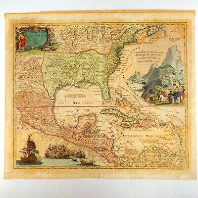 1720 Map of North America Canada U.S. Caribbean Mexico Johann Baptiste  Homann | eBay