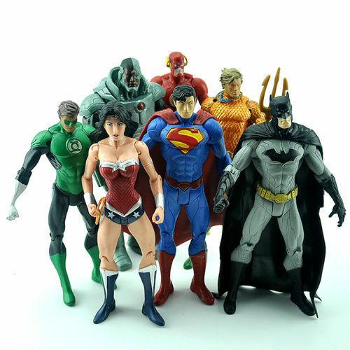 DC Universe Justice League Batman Superman Action Figures Comics Heroes Kids Toy