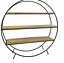 Retro-Style-Free-Standing-Round-Display-Unit-Shelf-Metal-And-Wood-50cm thumbnail 1