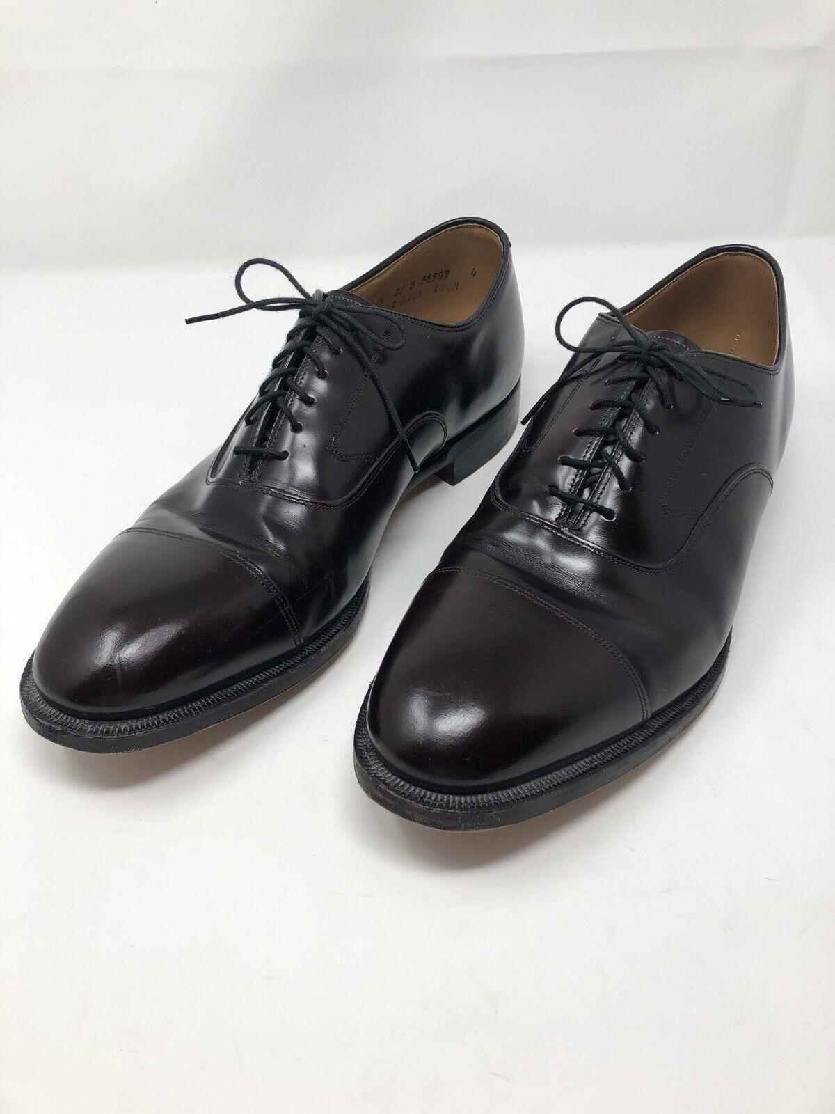 JOHNSTON & MURPHY Optima Melton Mens 11.5 D Oxfords Cap Toe Dress Shoes Burgundy