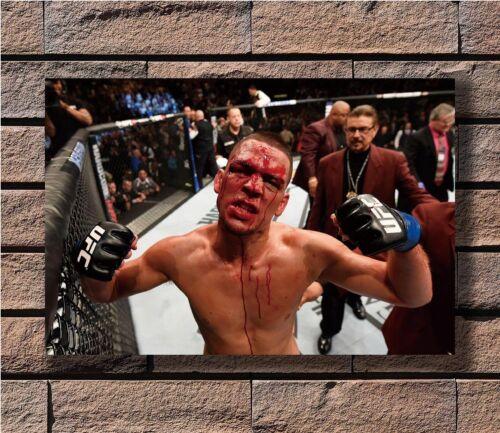 Nate Diaz MMA UFC Welterweight Champion Poster Fabric 8x12 20x30 24x36 E-415
