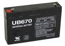 6 Volts 7Ah -Terminal F1 - SLA/AGM Battery - UB670