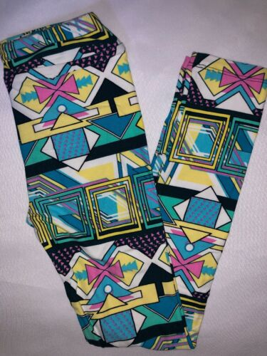 LuLaRoe Kids Leggings L//XL New Multicolored Pattern Fits 8-12 BoxU