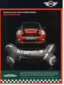 Publicite Advertising 114 2008 Mini John Cooper Works Ebay