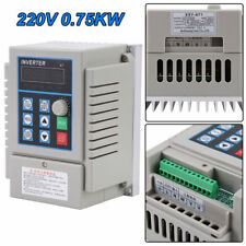 075kw Ac 220v Single 3 Phase Vfd Variable Frequency Drive Inverter Adjustable