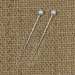 144 White ROUND Pearl Head Corsage Pins Choose Size