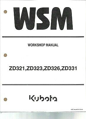 Kubota Zd321 Zd323 Zd326 Zd331 Z Turn Mower Workshop Repair Manual 9y111 02653 Ebay