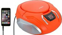 Portable Cd Boombox With Am/fm Radio (orange) Music Party Travel Gift Iphone on sale