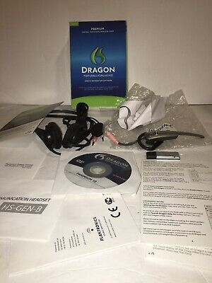 NEW Nuance Dragon Naturally Speaking Premium 11 11.5 Windows 7 with Headset