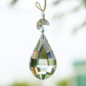 5-Clear-Hanging-Glass-Crystal-Pipa-Drop-Pendant-Chandelier-Lamp-prism-Parts-50mm