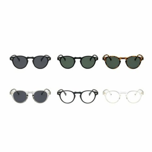 Classic Small Round Resin Pc Material Rice Nail Retro Small Frame Sunglasses LR