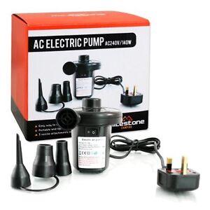 Electric Air Pump Inflator Camping Bed Mattress Pool 240V Mains Airpump FA