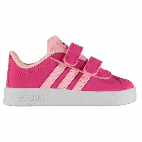 Bambine ADIDAS VL Court 2 Bambino Scarpe da ginnastica casual scarpe soletta imbottita
