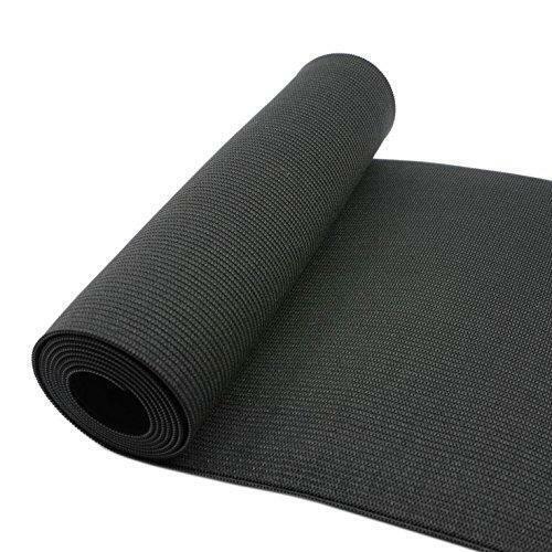 4-Inch Wide Black Heavy Knit Stretch ELASTIC 3 Yards by Prolastic