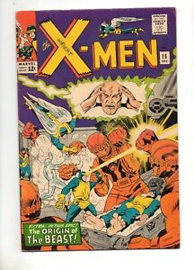 X-Men-15-2ND-APP-The-SENTINELS-amp-ORIGIN-of-The-BEAST-VF-8-0-HIGH-GRADE-1965