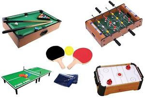 Wooden Mini Table Top Air Hocky Table Tennis Football Pool Family