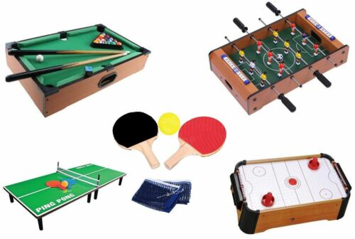 Wooden Mini Table Top Air Hocky table tennis football Piscine Family Games toy gift