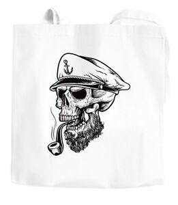 Jutebeutel-Captain-Skull-Beard-Kapitaen-Totenkopf-Bard-Sailor-Schaedel