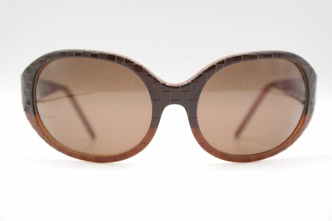 Christian Roth Cr 14230e Br Handmade IN Italy 63 17 Braun Oval Sunglasses