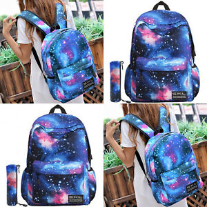 7d45453a45 Image is loading GALAXY-Canvas-Leisure-Girls-Boys-School-Shoulder-Bags-