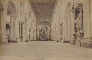 Italia Roma San Giovanni IN Laterano Interno Foto Vintage Albumina Ca 1880