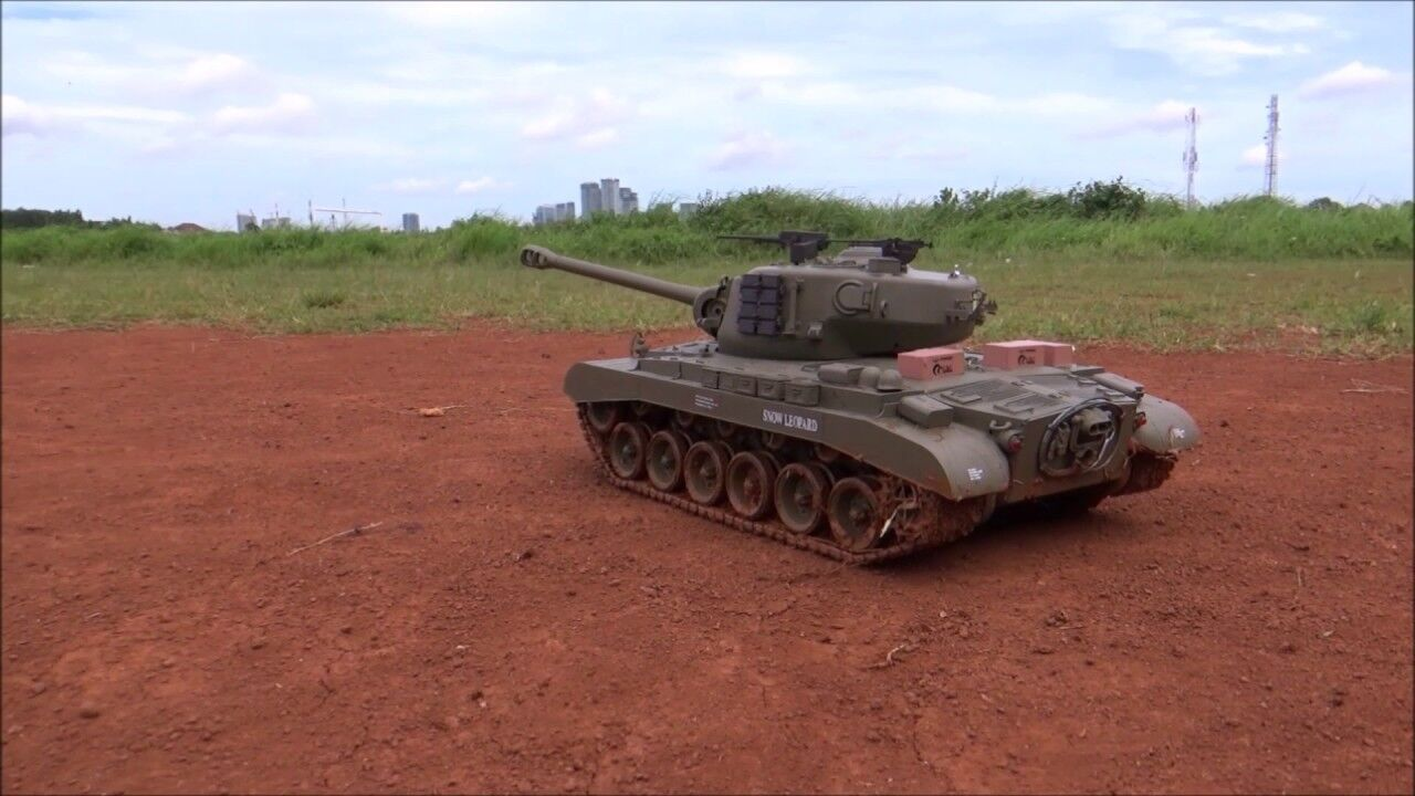 WW2 World War Snow Leopard M26 1 16 Radio Control Smoke Sound 2.4ghz Tank Model