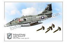 "McDonnell Douglas  A-4M ""Skyhawk II""  c/n Bu. 159489 VMA-214  - Poster Profile"