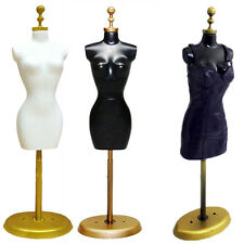 Doll Display Holder Dress Clothes Mannequin Model Stand For Barbie Doll Black