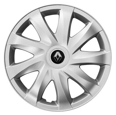 """4x15/"""" Wheel trims wheel covers fit Renault Clio 15 inches silver"""