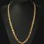 18k-feine-Goldkette-Koenigskette-vergoldet-60cm-lang-4MM-Damen-Herren-Geschenk Indexbild 1