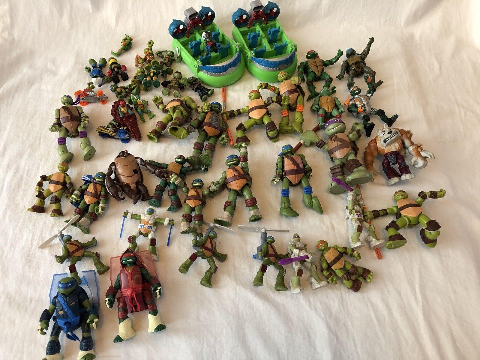 HUGE TEENAGE MUTANT NINJA TURTLES HALF SHELL HEROES comp vehicle Lot figs TMNT
