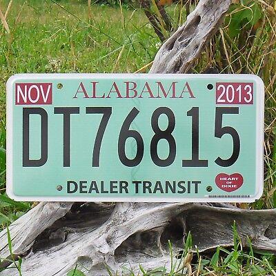 Authentisch Kennzeichen'kennzeichen Von'alabama dt76815 Nummernschild Usa