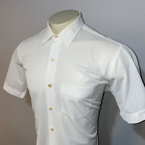 VTG-50s-60s-Mac-phergus-Damenhemd-datriloom-Polyester-Mid-Century-Herren-16-5